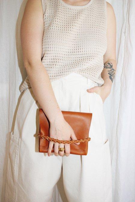 ARA Handbags Bebe Fold Over Clutch - Tobacco