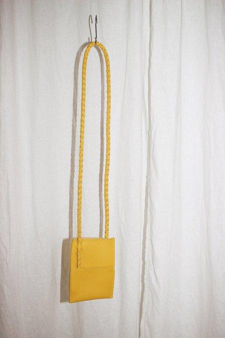 ARA Handbags Phone Sling Thing bag - Yellow Pebble