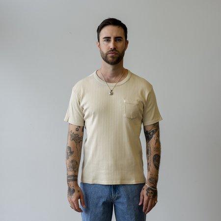 Knickerbocker Ribbed Pocket T-Shirt - Stone