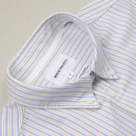 Norse Projects Anton Oxford Shirt - Clouded Blue Stripe
