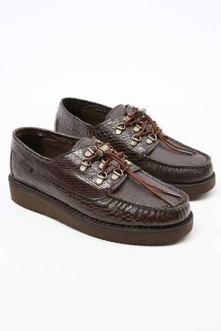 Engineered Garments x Sebago Men's Overlap Exotic shoes - Dark Brown/Vibram Sole