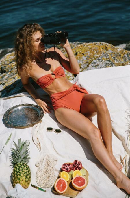 Fenntessa margarita strapless top swim