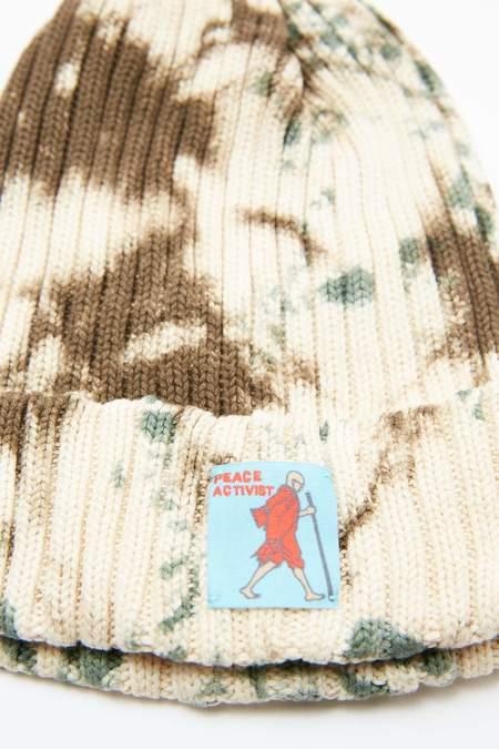 Kapital KOUNTRY 5G Cotton Beanie - Brown/Khaki