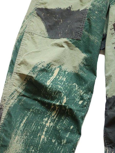 Kapital Rip Stop BRUSH CAMO Aviator Suit-Cut Pants - Khaki