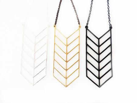 White Feather Designs Chevron Stack Necklace