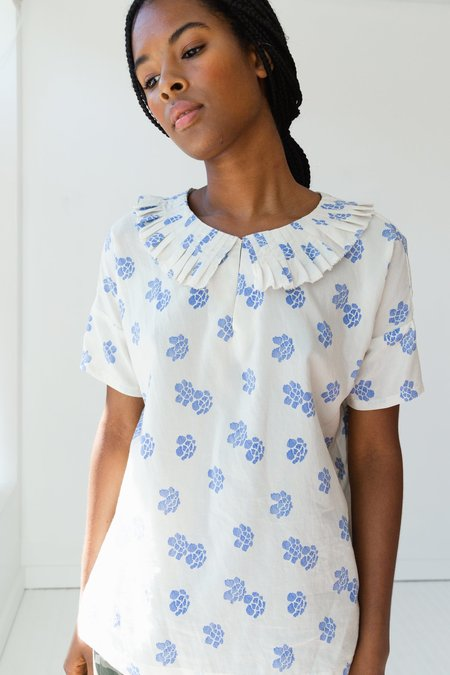 Caron Callahan Arts Silk Cotton Top - Shibori