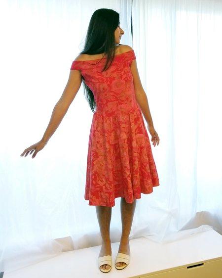 Vintage Roses Cotton Off Shoulder Dress - deress