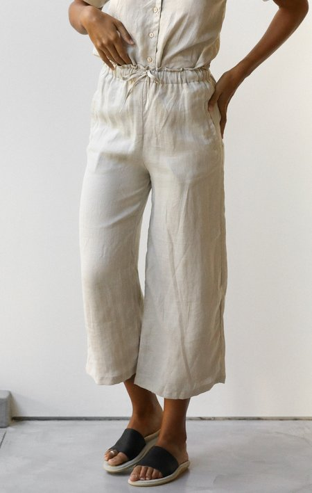 at Dawn. Linen Wide Pants