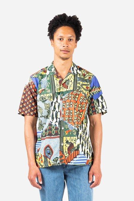 Gitman Bros. Fish Eye Camp shirt - Print