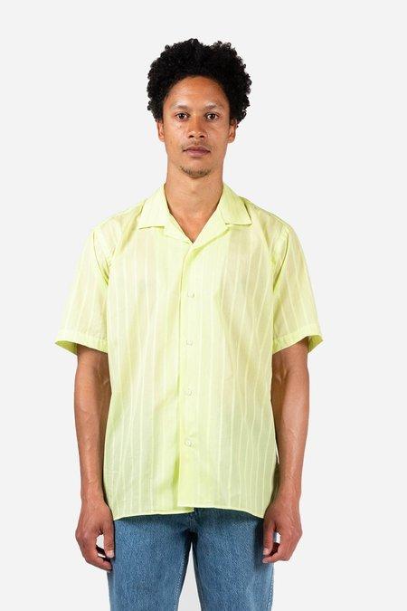 Gitman Bros. Metallic Stripe Voile Camp Shirt - Yellow