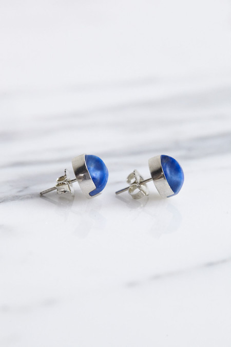 Ursa Major Aten Earrings in Bright Lapis