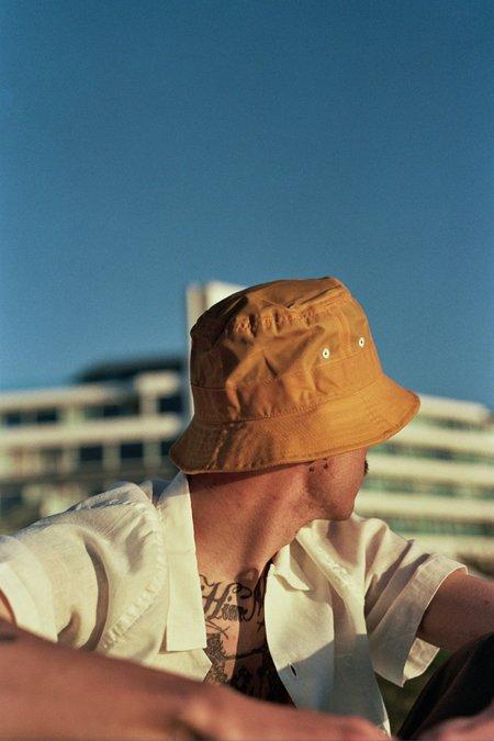 Universal Works Tek Wax Bucket Hat - Yellow
