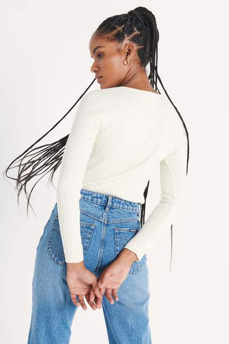 Rollas Classic Rib Sweater - Off White