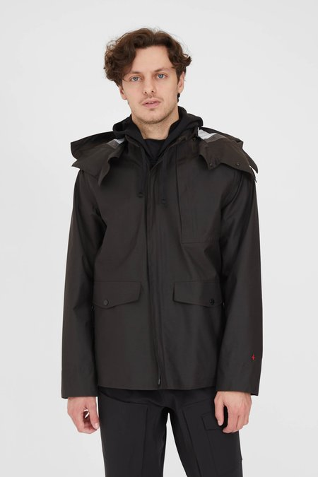 Stone Island Marina Jacquard Marina 3L Hooded Jacket - Black