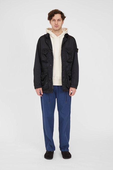 Stone Island Nylon Raso-TC Garment Dyed Hooded Jacket - Black