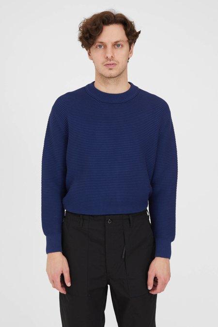 PRESIDENTS P's Cotton Punto Links Crew Neck Sweater - Navy
