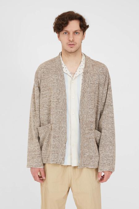 TS(S) Cotton Slub Yarn Mix Lined Easy Cardigan - Brown