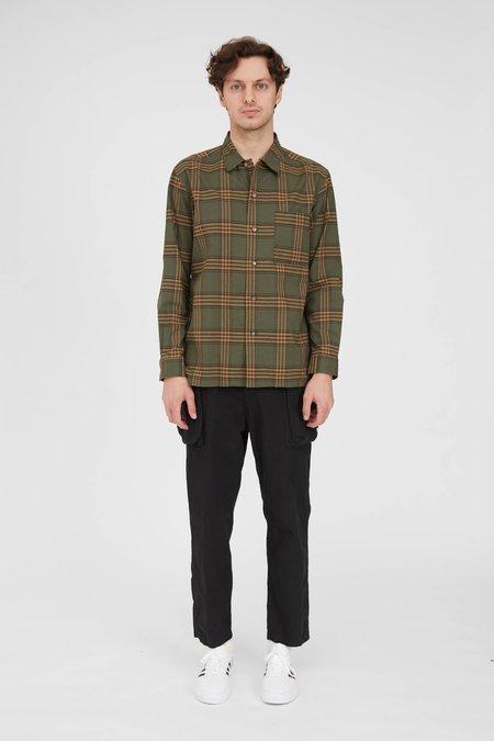 Sage de Cret Open Collar Shirt - Khaki