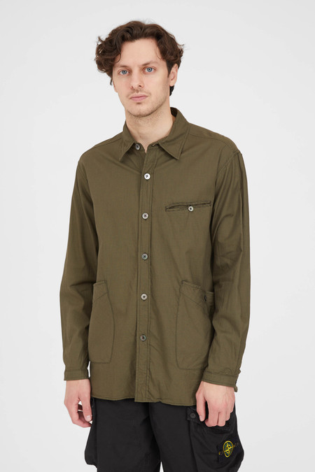 Sage de Cret Shirt Jacket - Khaki