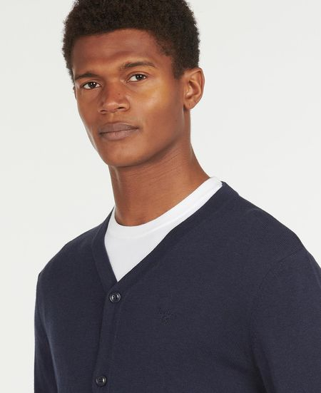 BARBOUR Cotton Cardigan - Navy