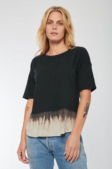 Raquel Allegra Basic Tie-Dye Tee - Black Horizon