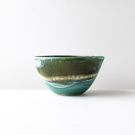 Elisabeth Gauthier Large Mixing Bowl with Spout - Green