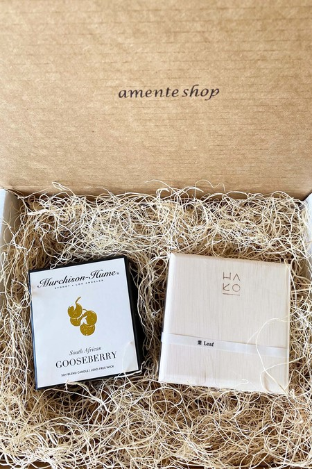 139 project Gift box set Wooden Box Set of 6 With Incense Mat and Dish and South African Gooseberry Candle