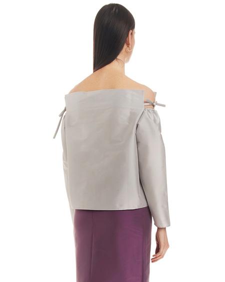 Bernadette Off Shoulder Blouse - Silver