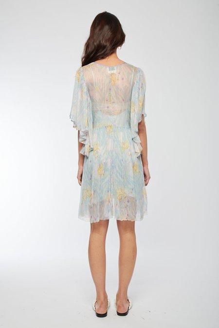 Forte Forte Silk Short Dress - CRISTALLO 0013