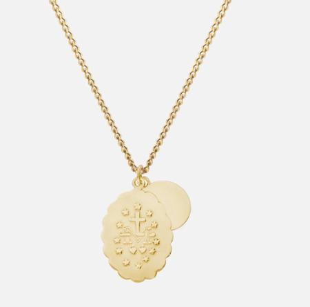 Miansai Mini Saints Necklace - gold vermeil