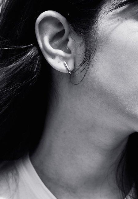 Meadowlark Sculpture Stud Earrings - silver