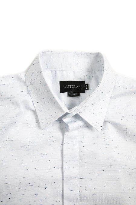 Outclass Short Sleeve FLECK SHIRT - White