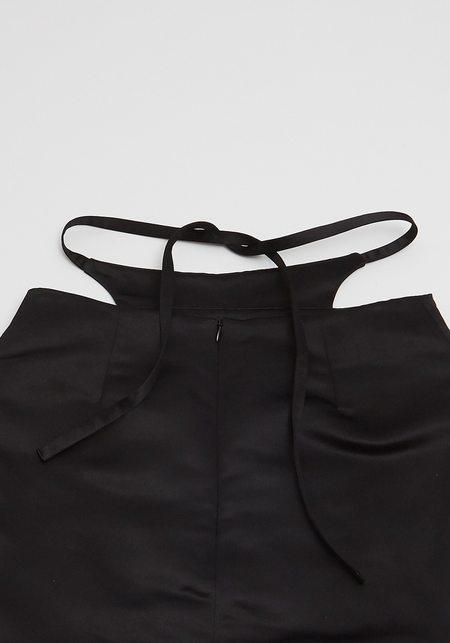 Sandy Liang Bunny Skirt - Black Satin