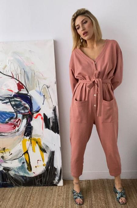 Soft Focus The Jogger Jumpsuit - Baked Coral
