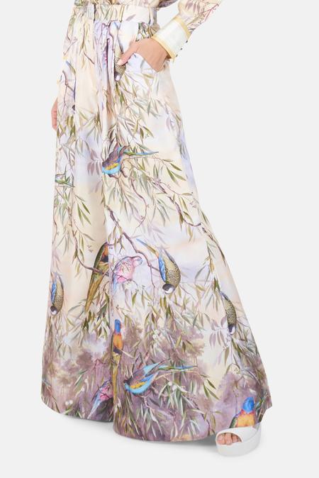 Zimmermann Candescent Wide Leg Pants - Parakeet