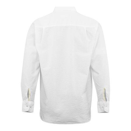 Universal Works Humber Seersucker Shirt - White