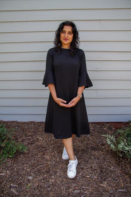 Bhoomki Cascade Dress - Black