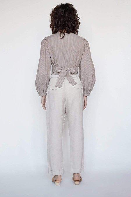 Christine Alcalay P. Sophia Pleated Slim Pant - Earth