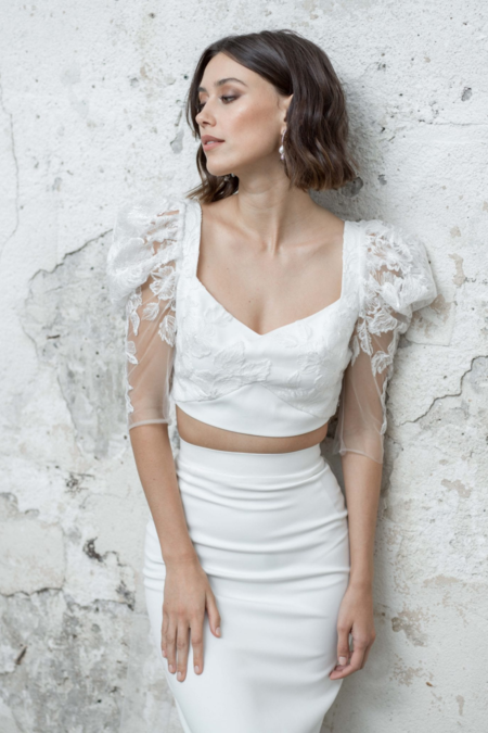 Rime Arodaky Roses Top - White