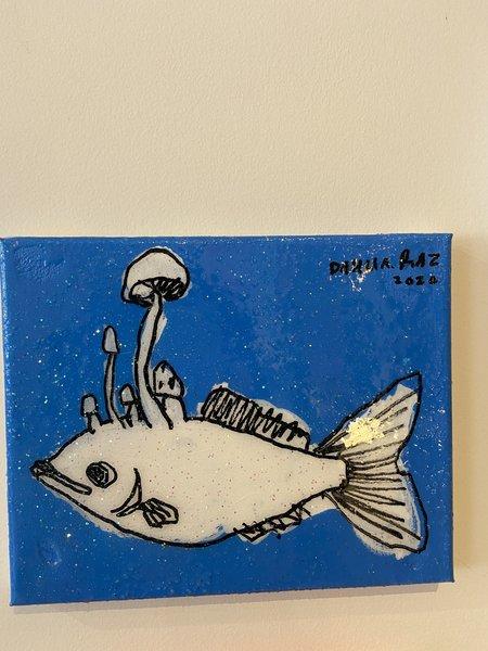 Dhalia Raz Big Fish art - Blue