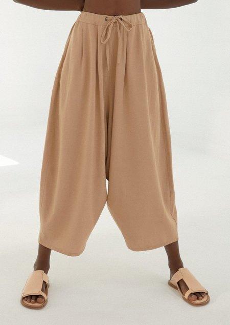 Monica Cordera Maxi Linen Pants - Nougat