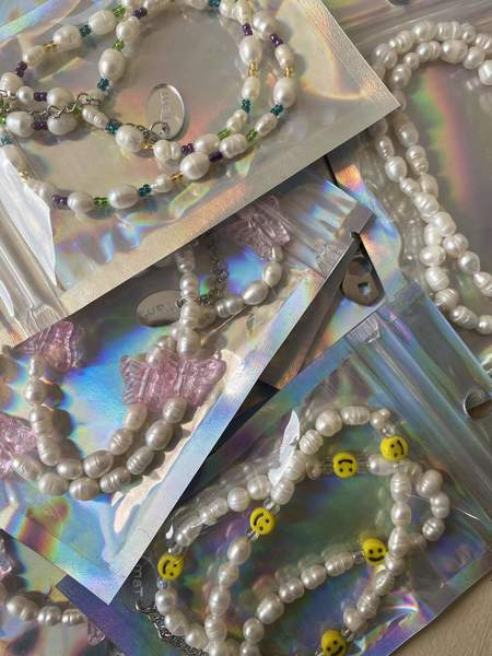 Tam Jewelry The Flutters Pearl Necklace - Clear