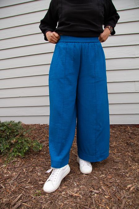 Bhoomki Panel Pants - Laguna Blue