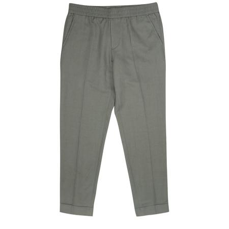 Filippa K Terry Cropped Linen Slack - Green Grey