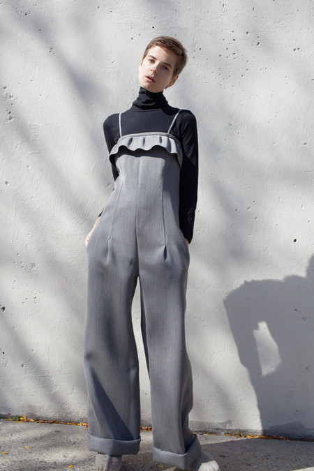 Veronique Leroy Jumpsuit in Mixed Gray