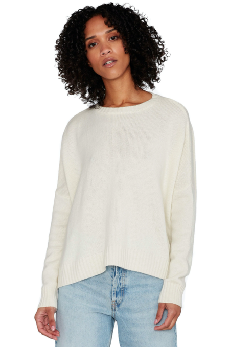 Organic by John Patrick Wide Cashmere Pullover - Ivory