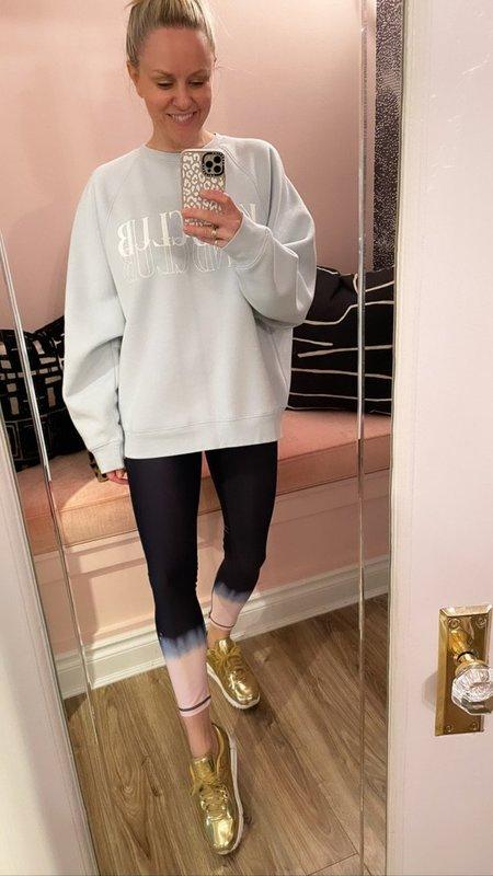 Brunette the Label Kind Club Not Your Boyfriend Crew Sweatshirt - Gray