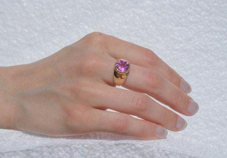 Luiny Amethyst Mondrian Ring - Gold