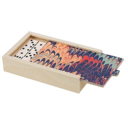 Wolfum Domino Set - Navy Marble