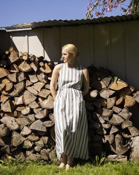 Field Day Rhiannon Dress - Stone Stripe